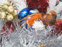 Christmas decoration white tree Royalty Free Stock Images