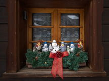 Christmas decoration at the window Stock Images