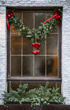 Christmas decoration on the window Royalty Free Stock Image