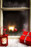 Christmas decoration on a window 2 Stock Image