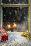 Christmas decoration on a window 5 Royalty Free Stock Photo