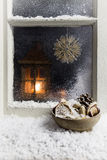 Christmas decoration on a window 8 Royalty Free Stock Photography