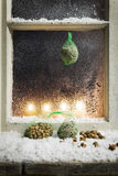Christmas decoration on a window 14 Royalty Free Stock Photo