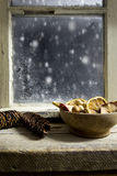 Christmas decoration on a window 20 Royalty Free Stock Image
