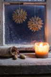 Christmas decoration on a window 24 Royalty Free Stock Photography