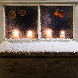 Christmas decoration on a window 30 Stock Image