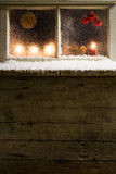 Christmas decoration on a window 36 Stock Photos