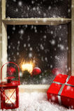 Christmas decoration on a window 1 Stock Photo