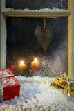 Christmas decoration on a window 6 Stock Image