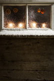 Christmas decoration on a window 31 Stock Images