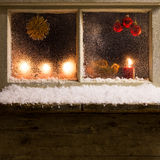 Christmas decoration on a window 34 Stock Photos