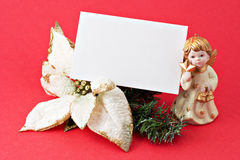Free Christmas Decoration With Blank Gift 2 Stock Photos - 3786173