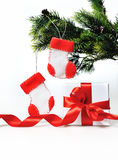 Christmas Decoration With Gift Royalty Free Stock Image