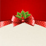 Christmas Decoration With Holly Leaves Stock Photos