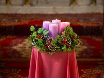 Free Christmas Decoration With Pine Crown Royalty Free Stock Photography - 167688977