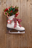 Christmas Decoration With Skate Royalty Free Stock Photo