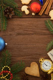 Christmas decoration on wood Stock Photo