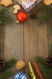 Christmas decoration on wood Stock Photography