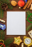 Christmas decoration on wood Stock Photos