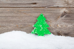 Christmas decoration on wood background Stock Photo