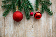 Christmas Decoration Wood Background Royalty Free Stock Photography