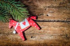 Christmas decoration on wood Stock Image