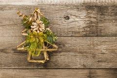 Christmas decoration on wood Royalty Free Stock Photos