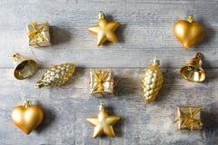 Christmas decoration on wood Stock Images