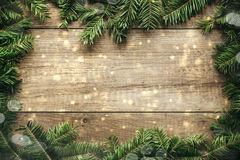 Christmas decoration with wooden background Royalty Free Stock Images