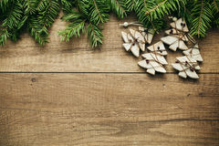 Christmas decoration with wooden background Stock Photography