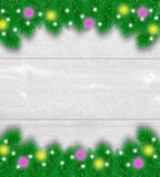 Christmas decoration wooden background Stock Photos