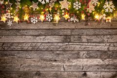Christmas decoration on wooden background Stock Photography