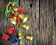 Christmas decoration on wooden background Royalty Free Stock Photography
