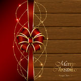 Christmas decoration on wooden background Royalty Free Stock Image