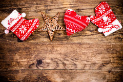 Christmas decoration, wooden background. Stock Photography