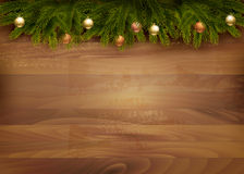Christmas decoration on wooden background. Stock Photo