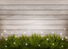 Christmas decoration on wooden background. Royalty Free Stock Images