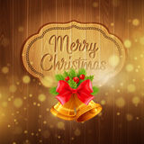 Christmas decoration on the wooden background Stock Photos