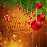 Christmas decoration on the wooden background Royalty Free Stock Photography