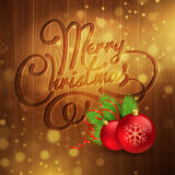 Christmas decoration on the wooden background Stock Photography