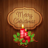 Christmas decoration on the wooden background Royalty Free Stock Image