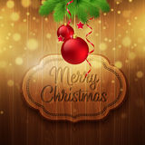Christmas decoration on the wooden background Royalty Free Stock Photos