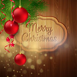 Christmas decoration on the wooden background Stock Image