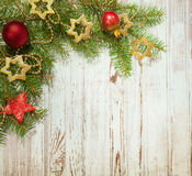 Christmas  decoration on wooden board Stock Photo