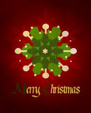 Christmas decoration on wooden boards Royalty Free Stock Photos