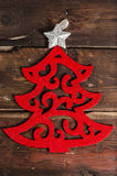 Christmas decoration on wooden boards Stock Photography