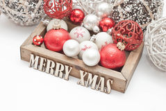 Christmas. Decoration with wooden letters Stock Image