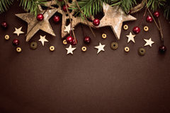Christmas decoration with wooden stars Stock Photography