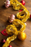 Christmas decoration on wooden table Royalty Free Stock Photos