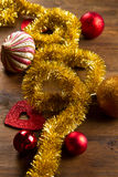 Christmas decoration on wooden table Stock Photography